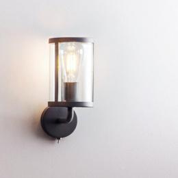 Modern Black Steel Cylindrical Wall Light By Garden Trading