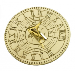 Contemporary Polished Brass Sundial