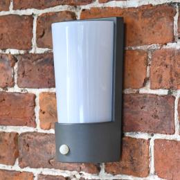 Grey Modern Flush Wall Light With PIR Sensor