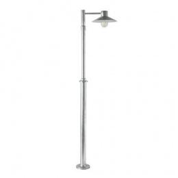 Modern Galvanised Steel Lamp Post and Lantern