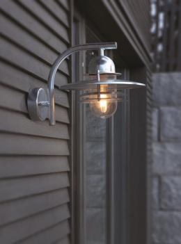 Contemporary Wall Lantern with Matching Bracket