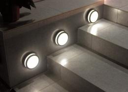 Modern Circular Garden Steps Wall Light