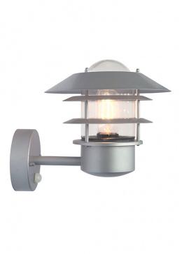 Modern Silver Wall Light with Optional PIR Sensor
