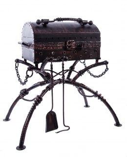 Nautical treasure chest barbequ