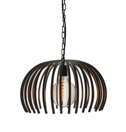 Polished Nickel Tube Basket Hanging Interior Light