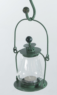Olive Green Garden Candle Lantern