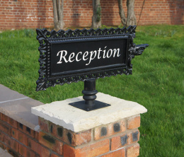 Ornate Directional Property Name Sign