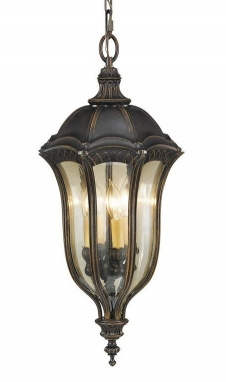 Ornate Hour Glass Shaped Chain Lantern