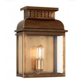 Period Antique Brass Half Wall Lantern
