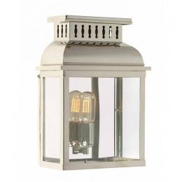 Period Polished Nickel Half Wall Lantern