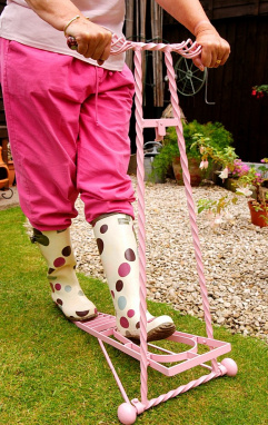 Pink boot jack in the garden