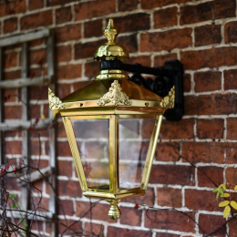 Polished Brass Top Fix Victorian Wall Lantern