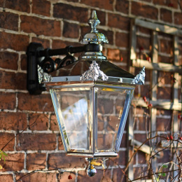 Polished Chrome Top Fix Victorian Wall Lantern