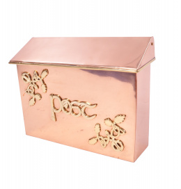 """The Braemar"" Copper or Brass Celtic Post Box"