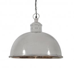 Polished Nickel Retro Style Bowl Hanging Pendant Light