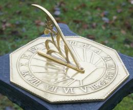 Modern Brass Garden Sundial