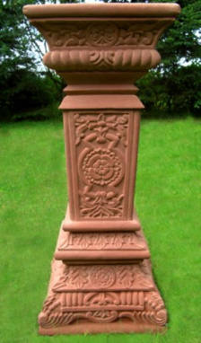 Red Sandstone Sundial Plinth