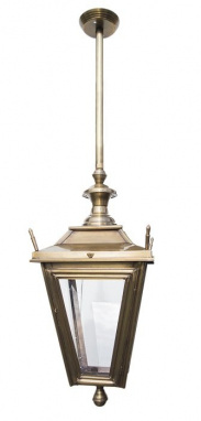 Rigid Hanging Lantern Antique Brass