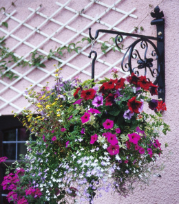 "18"" Garden or Lamp Post Hanging Basket Brackets"