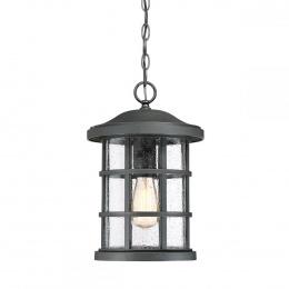 Rustic Black Cylindrical Chain Hanging Lantern
