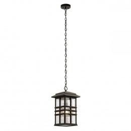 Rustic Bronze Square Hanging Chain Lantern