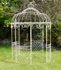 Rustic Cream Metal Garden Gazebo