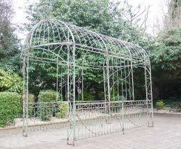 Rustic Green Vintage Garden Gazebo Walkway