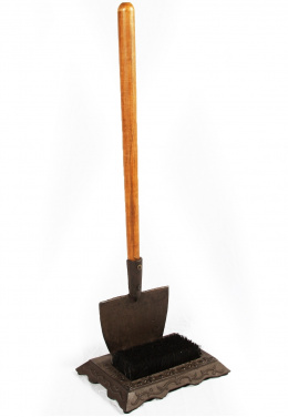 Rustic Garden Spade Boot Scraper And Brush
