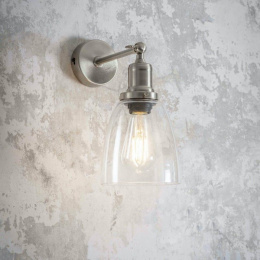 Satin Nickel Adjustable Modern Interior Wall Light by Garden Trading