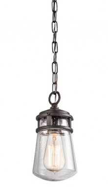 Seeded Glass Industrial Hanging Chain Lantern