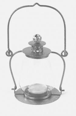 Designer Silver Garden Candle Lantern