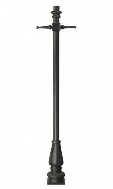 1.7m Tall Black Contemporary Lamp Post