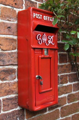 Slim King George Rex Wall Mounted Post Box