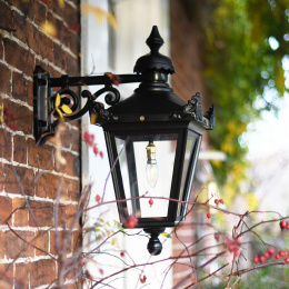 Small Black Top Fix Victorian Wall Lantern
