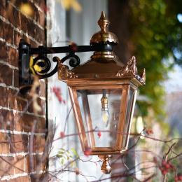 Small Copper Top Fix Victorian Wall Lantern