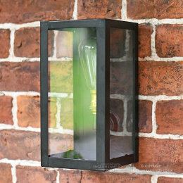 Small Rectangular Black Contemporary Wall Lantern