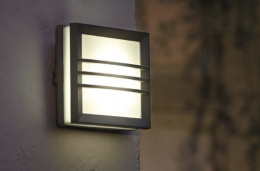 Squared Flush Fitting Contemporary Wall Light
