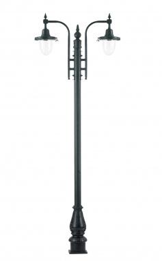 St Florent Dual Head Swan Neck Lamp Post