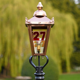 Stained Glass House Number In Victorian Lantern