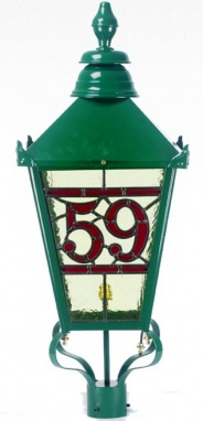 Stained Glass in a Lamp Post Lantern