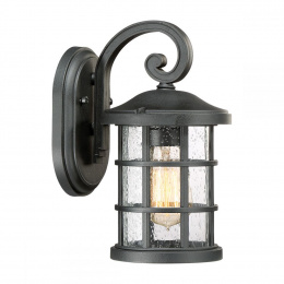 Standard Rustic Black Cylindrical Suspended Wall Lantern