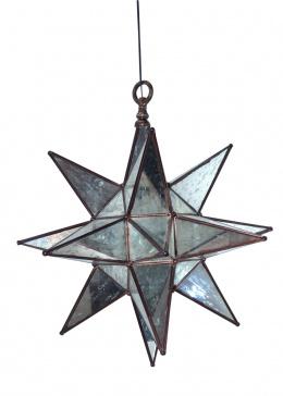 "Multi-point Star Design ""Mercury Glass"" Hanging Ceiling Light"