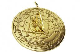 Sunshine Poem Brass Sundial