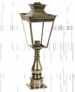 The Harwell Solid Brass Pillar Lantern Set