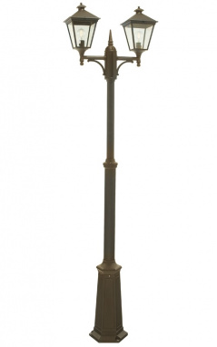 black and gold Victorian garden lamp post set
