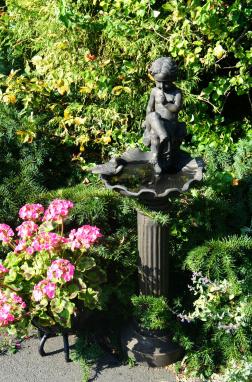 The Cherubim Garden Bird Bath