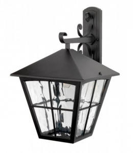 """The Churchtown"" Traditional Black Top Fix Porch Lantern"