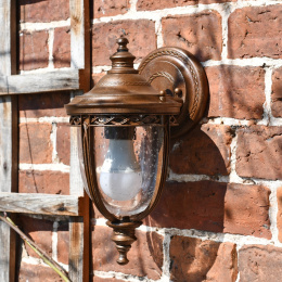 Bronze Top Fix Traditional Wall Lantern