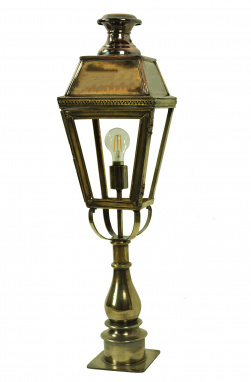The Ilfracombe Solid Brass And Copper Pillar Lamp Set