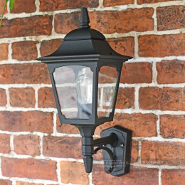 """The Kirkstead"" Black Traditional Black Wall Lantern"
